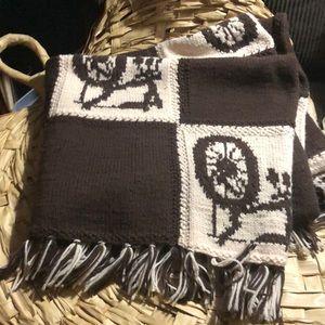 Beautiful vintage hand knit OOAK blanket
